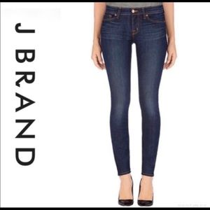 J Brand Skinny Leg Pure Dark Wash Jeans Size 27